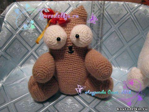 вяжем кота, амигуруми, вязание