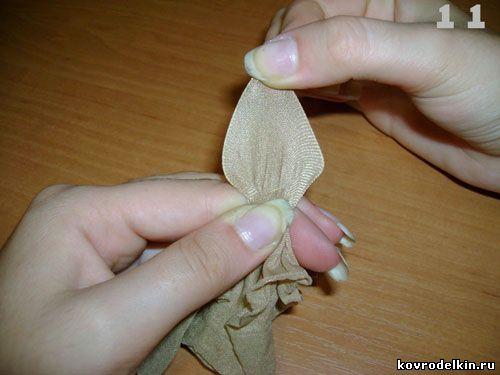 Как сделать цветы из капрона