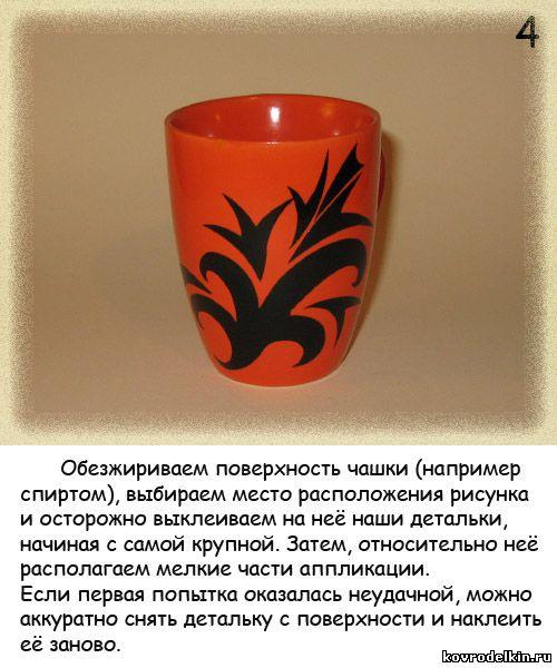 Роспись керамической чашки