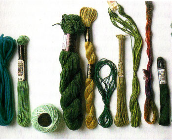 виды нитей для вышивки