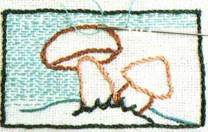 Вышивка шов вперед иголка