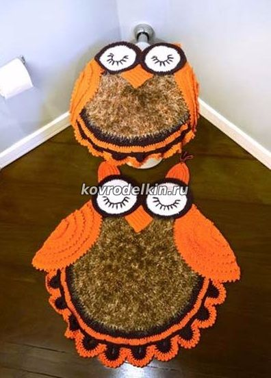 коврик сова связанный крючком 6 февраля 2012 ковровая вышивка и