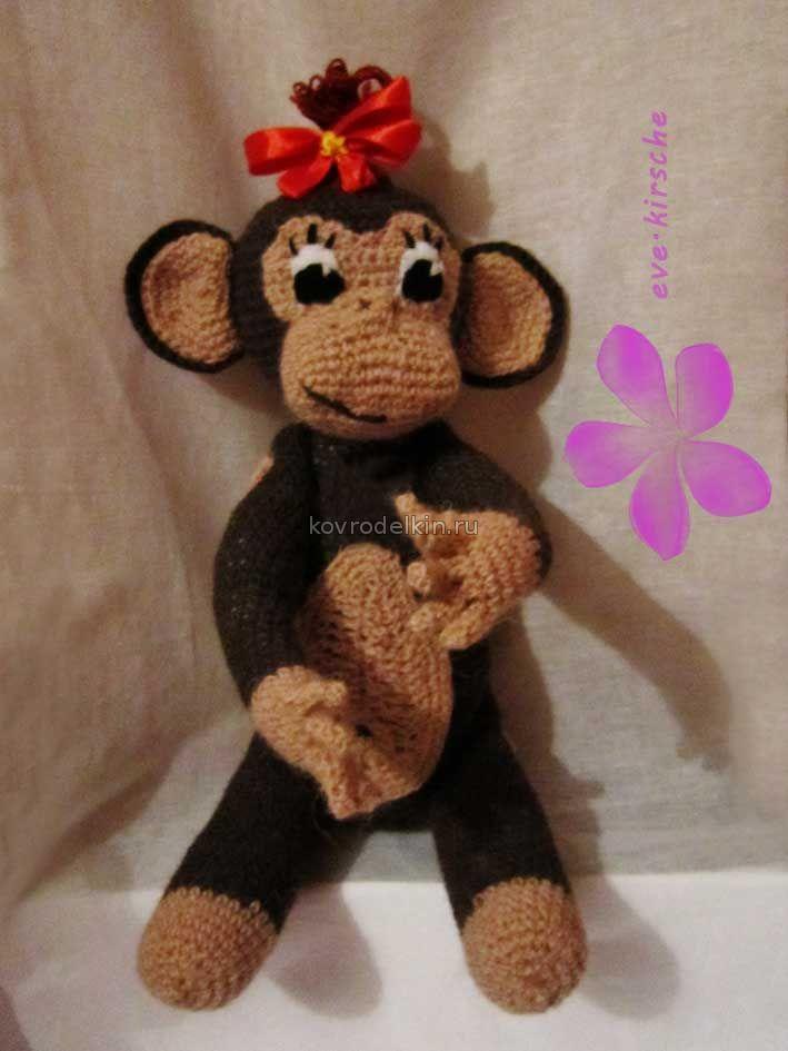 Как связать спицами обезьянку своими руками