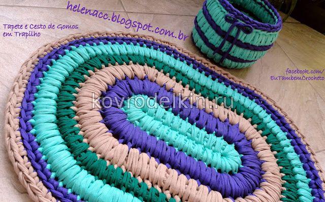 Толстые нитки для вязания ковриков крючком 93