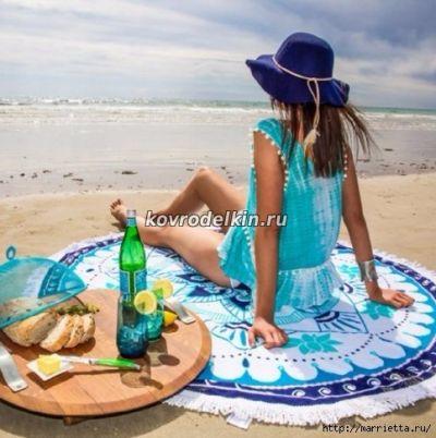 коврик, мандала, лето, отдых,