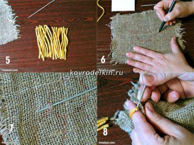 Как сделать пушистый коврик своими руками из помпонов своими руками 2