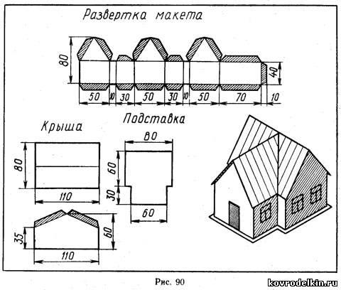 Схемы макетов домов