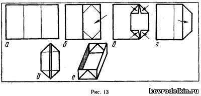 Как сделать коробочку из бумаги из а4