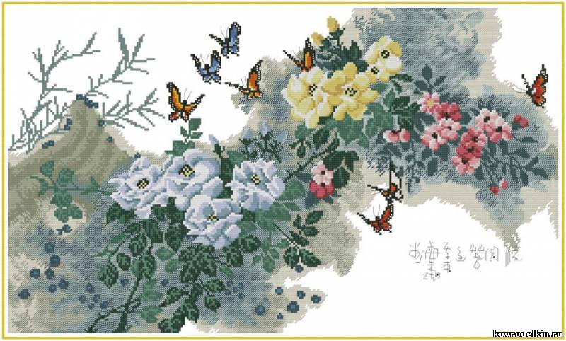 Схема вышивки ранняя весна