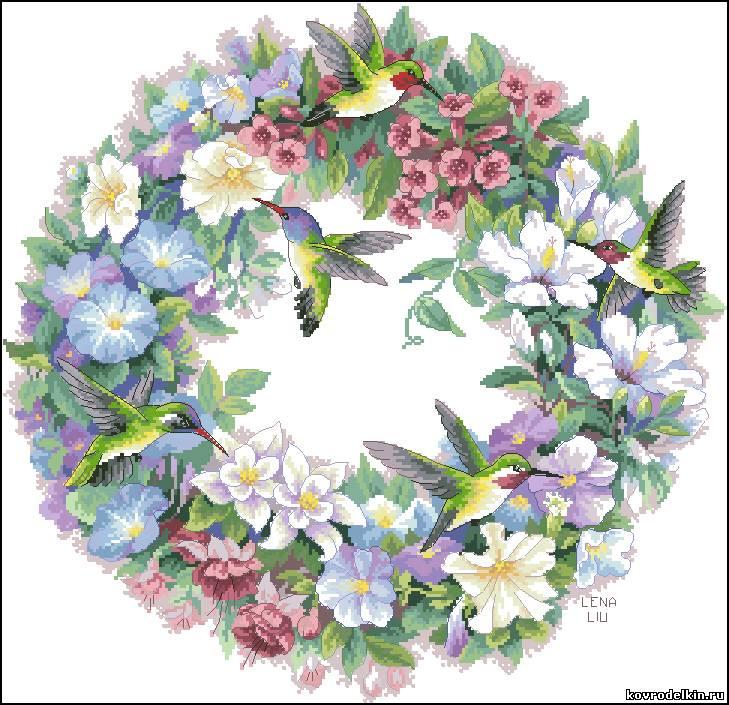 Схемы вышивки крестом цветов и