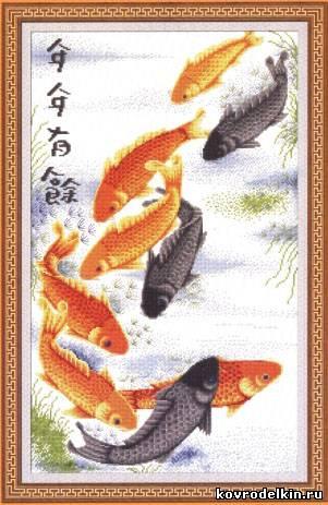 Схемы вышивки крестом рыб,
