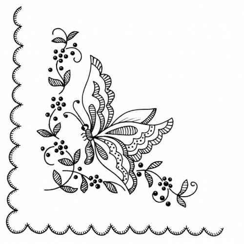 Узор вышивки для платка