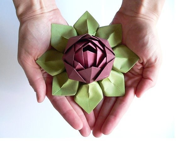 Origami Lotus Blossom Folding Instructions  How to fold