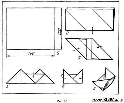 Как сделать с бумаги пилотку