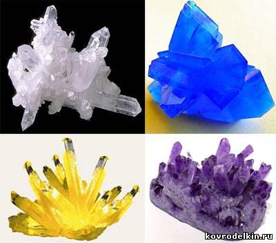 как вырастить кристаллы соли