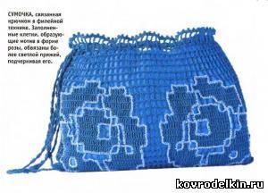 сумочка, вязание крючком