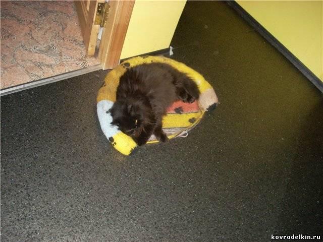 коврик для кошки, вязание