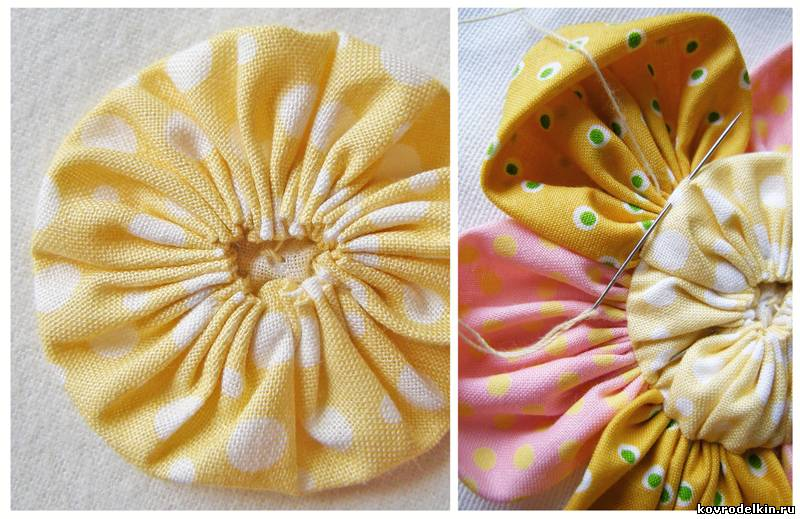 флористика, цветы из ткани