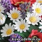 полимерная глина, лепка, ромашка, цветы