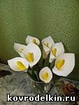 полимерная глина, лепка, каллы, букет, цветы