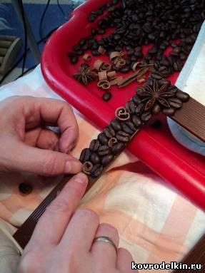 кофе, корица, фоторамка, гвоздика, украшение