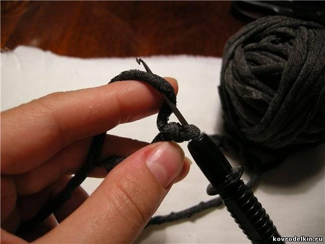 вязание крючком, коврик крючком, коврик, остатки ткани
