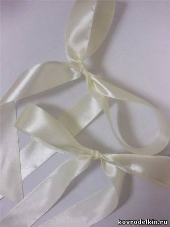 украшение, свадебное шампанское, атласная лента, фатин