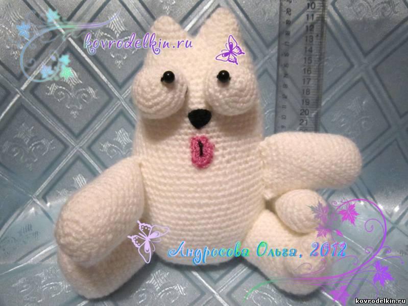 описание вязаной крючком игрушки амигуруми кот саймона автор