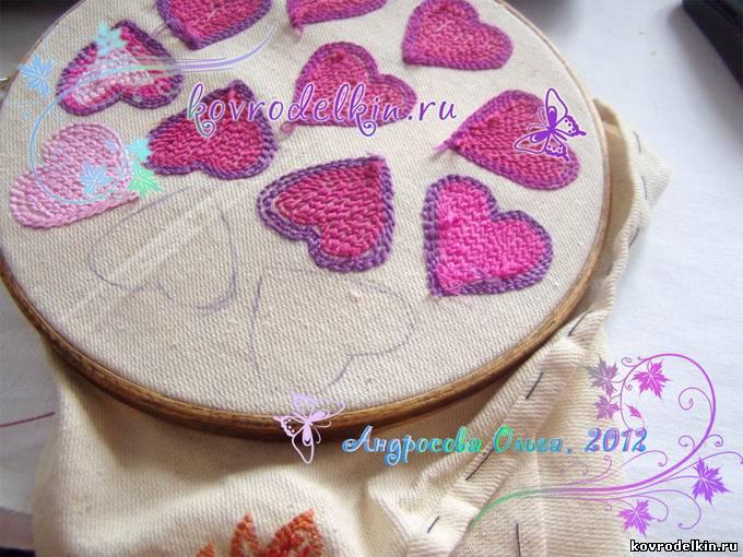 ковровая вышивка, мягкие