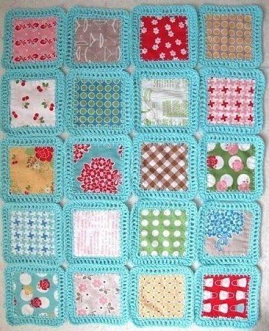 коврик из квадратов ткани, плед из квадратов ткани мастер-класс