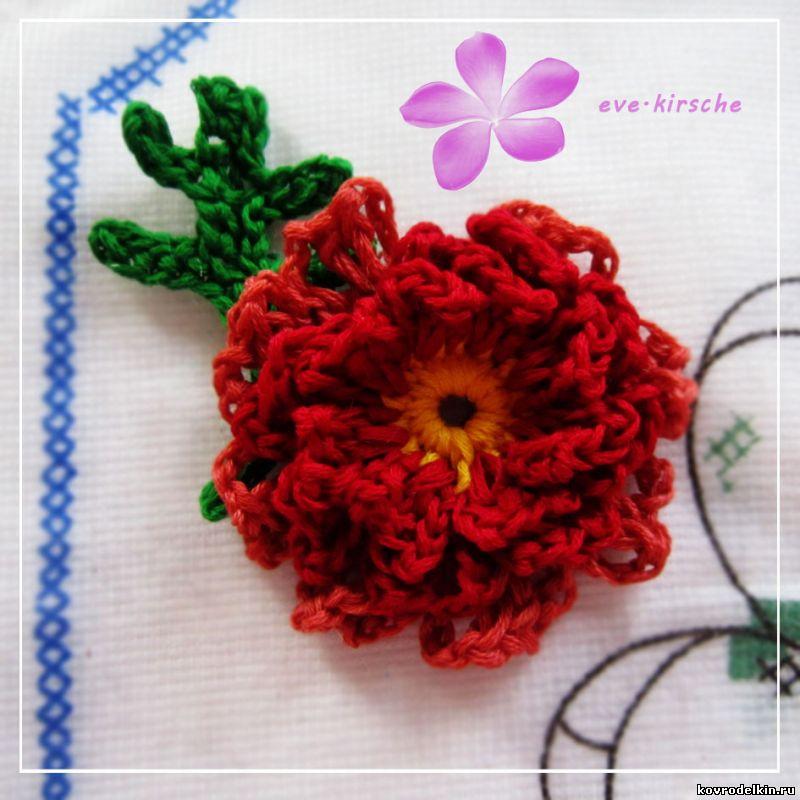 вязание крючком уроки мастер класс ковровая вышивка и