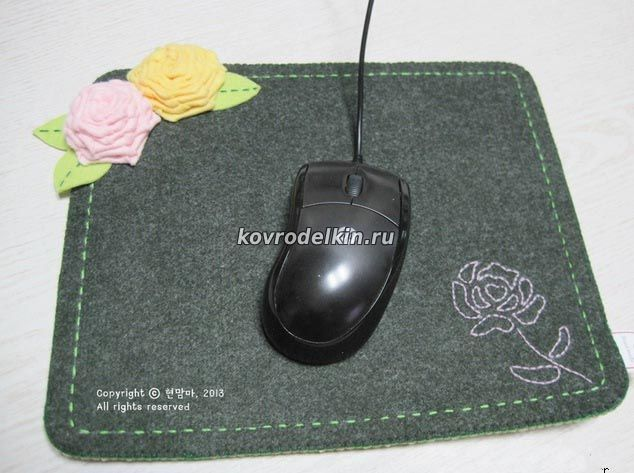 Коврик для мыши из подручных материалов