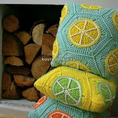 апельсин крючком, лимон крючком,лайм крючком, апельсин схема вязания
