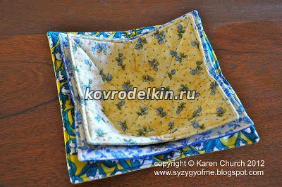 тарелки из ткани для микроволновки, текстильные тарелки своими руками