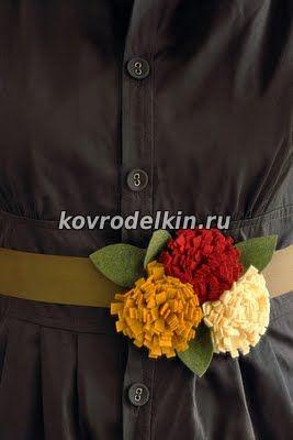 Хризантемы из фетра, цветы из фетра мастер-класс