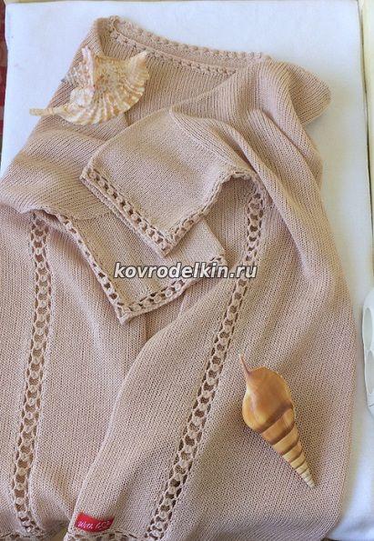 Как соединить детали изделия ажурной полосой при вязании ...