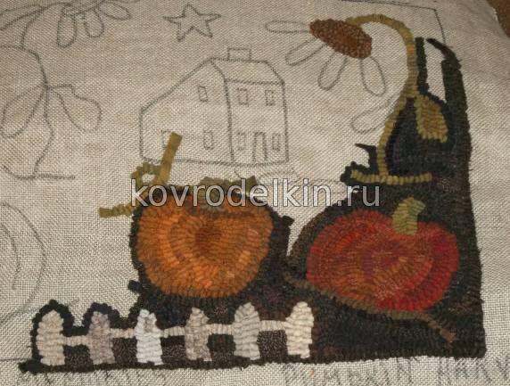 Крючок для вышивки коврика