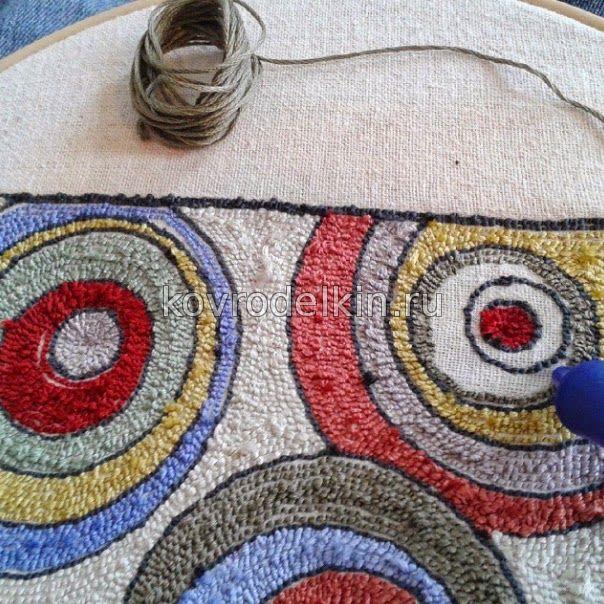 Мастер класс вышивки ковровой иглой